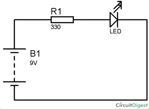 Wiring Diagram For Led by Simple Led Circuit Diagram