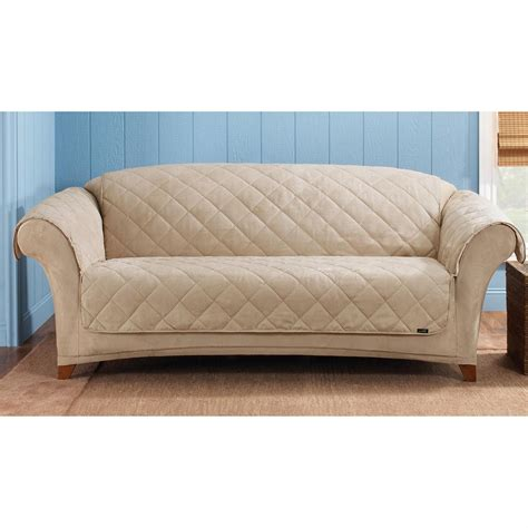 sure fit furniture covers sure fit reversible suede sherpa sofa pet cover