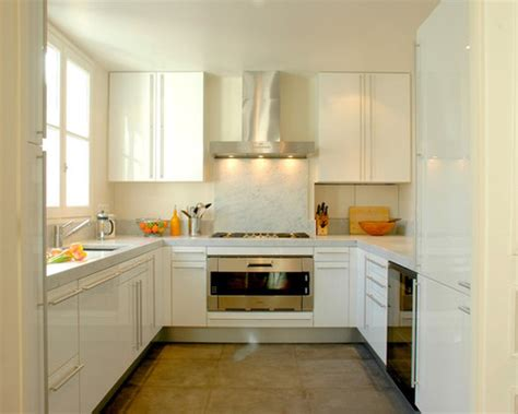 tips  decorate small  shaped kitchen home