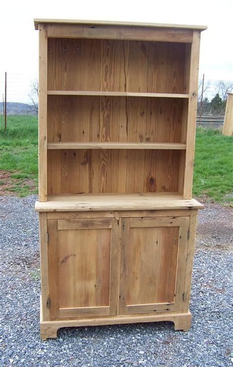 amish barnwood farmhouse stepback hutch  open top