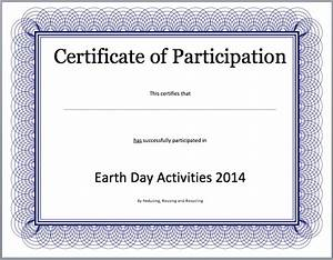 certificate of participation search results calendar 2015 With certificate of participation template pdf