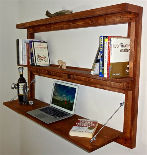 wall mounted fold out desk items similar to rustic wall mounted fold out desk with