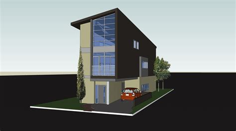 houses for narrow lots narrow lot modern box parking no garage 3 stories house design