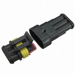Car 3 Pin Way Sealed Waterproof Electrical Wire Connector