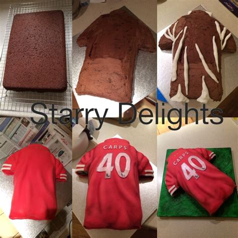 Football T Shirt Cake Template by Football Shirt Cake Starry Delights