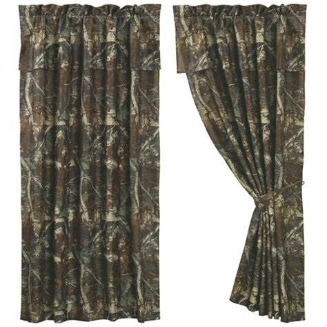 camouflage curtain pair