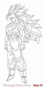 How To Draw Super Saiyan 3 From Dragon Ball Step 10