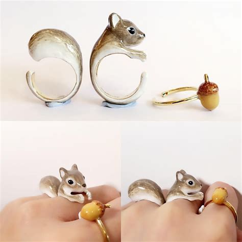 adorable  piece rings transform  animals