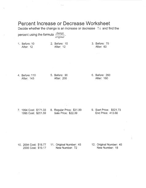 18 best images of worksheet finding percent tax percent