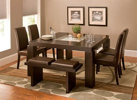 Raymour And Flanigan Black Dining Room Set by Cortland Place 7 Pc Dining Set Brown Raymour Flanigan