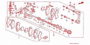 Rear Brake Caliper For Honda Cars Civic Crx 1 6i