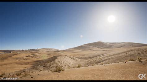 desert landscape  gokhan karadayi  environments ue