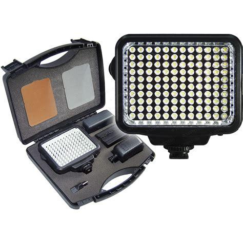 vidpro professional led light vidpro k 120 on camera led video light kit k 120 b h photo