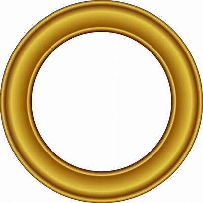 Circle Frame Gold Clipart Clip Golden Frames