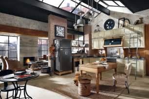 vintage kitchen island ideas déco style usine loft exemples d 39 aménagements