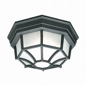 Philips outdoor essentials 1 light outdoor flush mount for Outdoor flush mount lighting fixtures