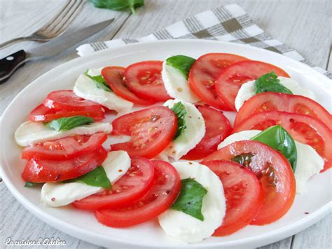 cuisine en cocotte salade caprese tomates mozzarella la cuisine d 39 adeline