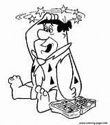 Coloring Fred Flintstones Dizzy Pipe Flintstone Organ Printable Drawing Cleaner Isometric Cartoon Getdrawings Sitting Drawings Popular Azcoloring sketch template