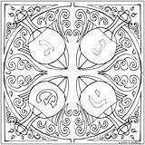 Coloring Hanukkah Adults Jewish Adult Bonus Mandala Printable Sheets Annkoffsky Hannukah Crafts Dreidels Koffsky Uncategorized Pdf Ann Getdrawings Holidays sketch template