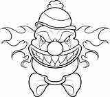 Coloring Pages Scary Clown Drawing Halloween Cartoon Drawings Printable Cool Adult Creepy Disney Educative Educativeprintable sketch template