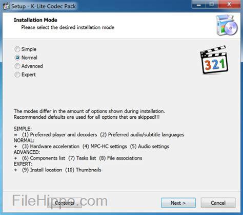 k lite codec windows xp télécharger gratuit