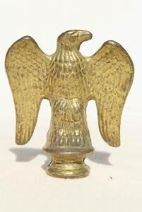 vintage cast metal eagles federal eagle finials or flag