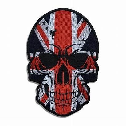 Skull Flag Patch Biker Patches Sew Iron