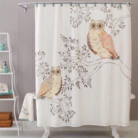 owl shower curtain better homes and gardens owl shower curtain walmart
