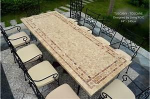 Table De Jardin En Fer : table mosa que en pierre toscane de jardin en fer forg ~ Dailycaller-alerts.com Idées de Décoration