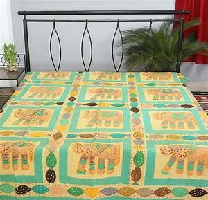 Couvre Lit Indien : couvre lit patchwork indien look design l phant drap de lit couvre lit id de produit ~ Teatrodelosmanantiales.com Idées de Décoration