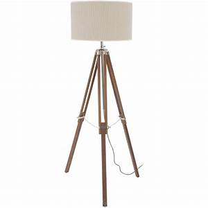 buy libra natural wood and nickel tripod floor lamp from With organic wood floor lamp
