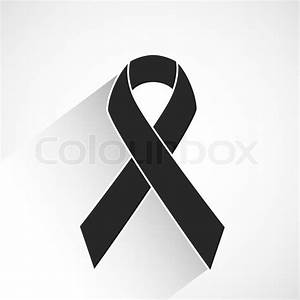 Cancer awareness ribbon vector icon or background with ...