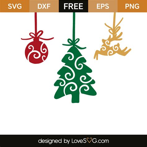 Png file with transparent background and 300 dpi resolutions. Christmas ornaments | Lovesvg.com