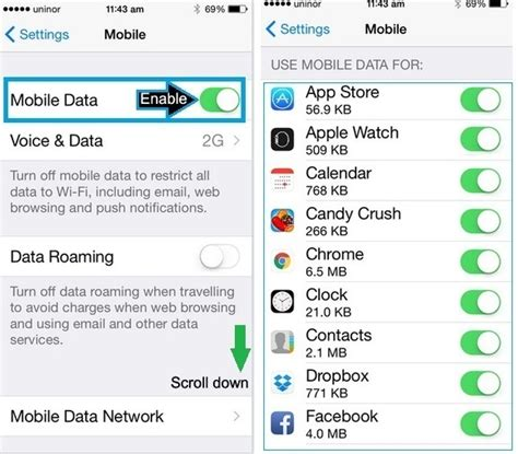 how to enable on iphone 5s how to stop apps using mobile data on iphone 6 6 plus