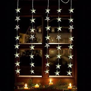 Lichterkette Für Fenster : led lichtervorhang 40 x led sterne lichterkette fenster innen au en weihnachten ebay ~ Markanthonyermac.com Haus und Dekorationen