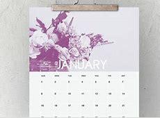 20 Calendari 2018 bellissimi da stampare da muro e pareti