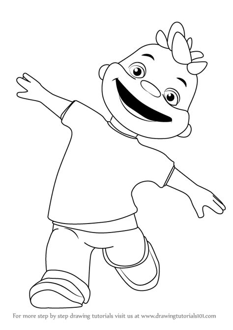 step  step   draw gerald  sid  science kid drawingtutorialscom