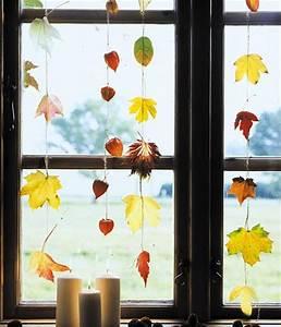 Dekoration Fürs Fenster : dekorieren mit herbstlaub ideen zum selbermachen living at home ~ Pilothousefishingboats.com Haus und Dekorationen