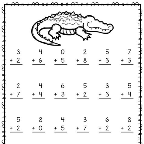 addition and subtraction practice worksheets for 1st grade