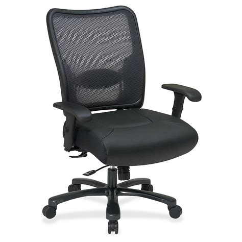 office space task chair leather seat 5 base