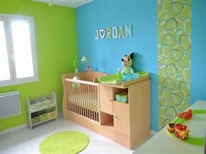 Deco Chambre Bebe Bleu : d co chambre bebe garcon bleu et vert ~ Teatrodelosmanantiales.com Idées de Décoration