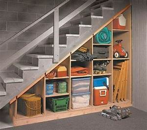 Idée Rangement Garage : quel meuble sous escalier choisir escalier stf ~ Melissatoandfro.com Idées de Décoration