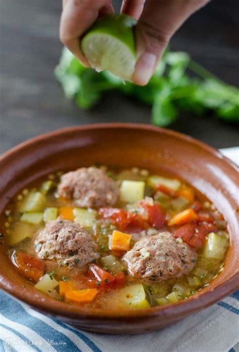 albondigas meatball soup easy mexican recipe