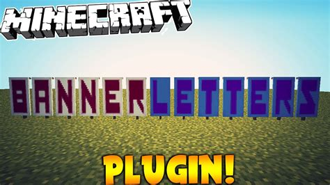 minecraft banner letters plugin youtube