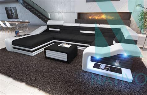 canapé panoramique canapé mirage xl ac éclairage led nativo mobilier design