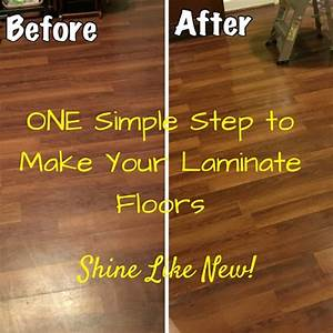 Laminate floors make them shine again honeysuckle for How to make laminate floor shine