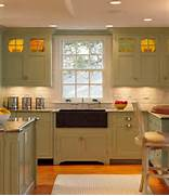 Olive Green Kitchen Cabinets  Transitional  Kitchen  Pratt And Lambert Oli