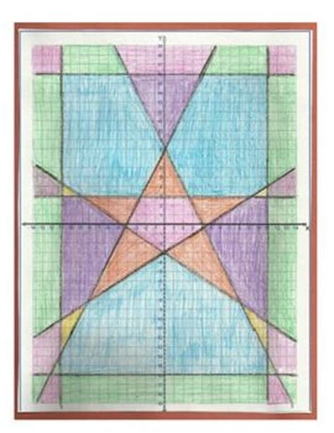 graphing linear equations quilt project coloring