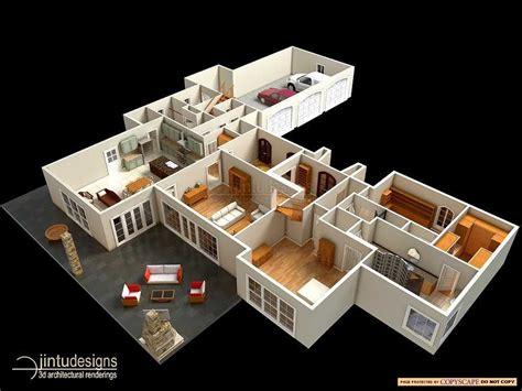 simple two bedroom house plans 3d floor plan quality 3d floor plan renderings