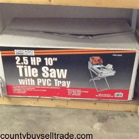 chicago electric tile saw chicago electric 2 5 hp 10 quot tile saw w pvc tray arnold